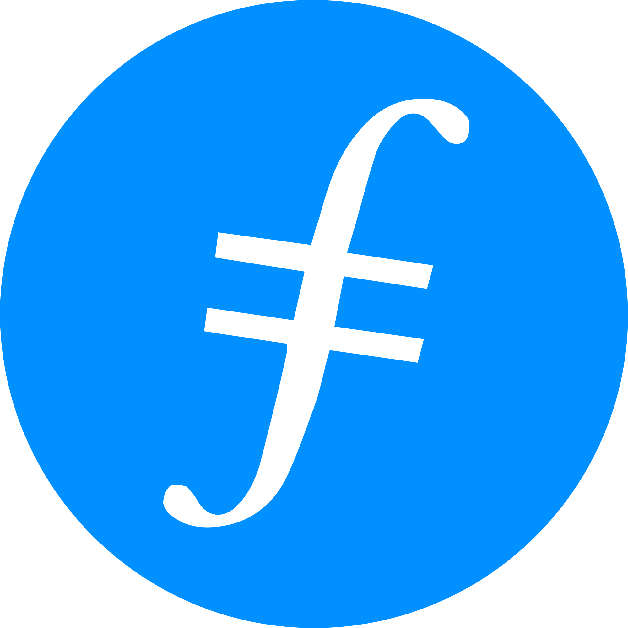 Filecoin FIL Logo  . The Giving Block